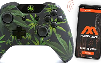 420 Black Smart Rapid Fire Custom Modded Controller for Xbox One S Mods FPS Games and More. Control Your mod via The MZ Ti...