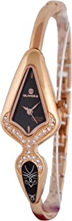 Wrist Watch for Women by Olivera, Black and Rose, OL904