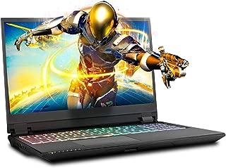Sager NP8454 15.6 Inches Thin Bezel 4K OLED Gaming Laptop, Intel Core i7-9750H, NVIDIA RTX 2070 8GB DDR6, 32GB RAM, 1TB NVMe SSD + 2TB FireCuda SSHD, Thunderbolt 3, Per Key RGB, Windows 10 Home