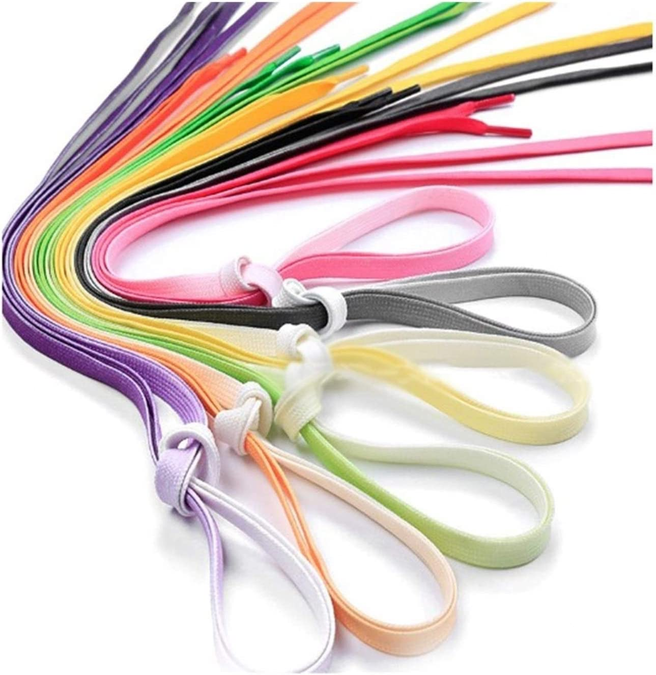 1Pair Colourful Shoelaces Monotone Shoe Canvas L laces Ranking TOP8 Limited price sale Fashion