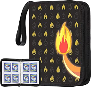 POKONBOY Card Binder Compatible with Pokemon Card, Carrying Case Fit for Pokemon Binder Card Holder Trading Card Sleeves S...
