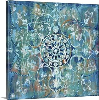 Mandala in Blue I Canvas Wall Art Print, 30