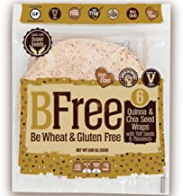 BFree Gluten Free Wheat Free Tortilla Wrap Quinoa and Chia Seed with Teff and Flaxseeds Dairy Free (Pack of 2)