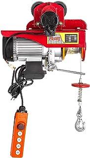 Mophorn Polipasto Eléctrico de 300kg / 660lb, con Carro Eléctrico de 0,5T / 1100lb 220V Rojo