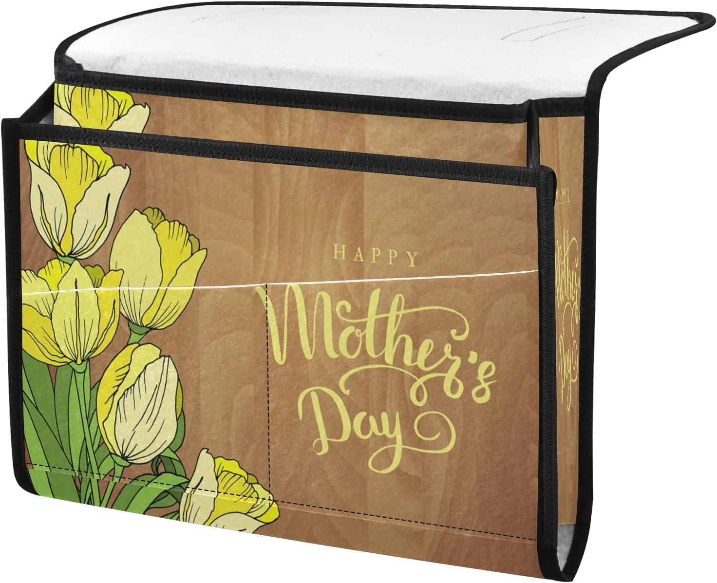 senya Albuquerque Mall Happy Mother's Day New life Tulip Bedside Floral Storage Organizer