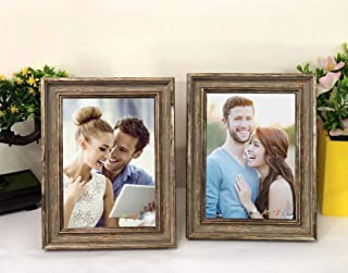 Art Street - Set of 2 Wall and Table Top Photo Frames Perfect for Family Office Table Decorations(2 Units of 6x8) -Copper