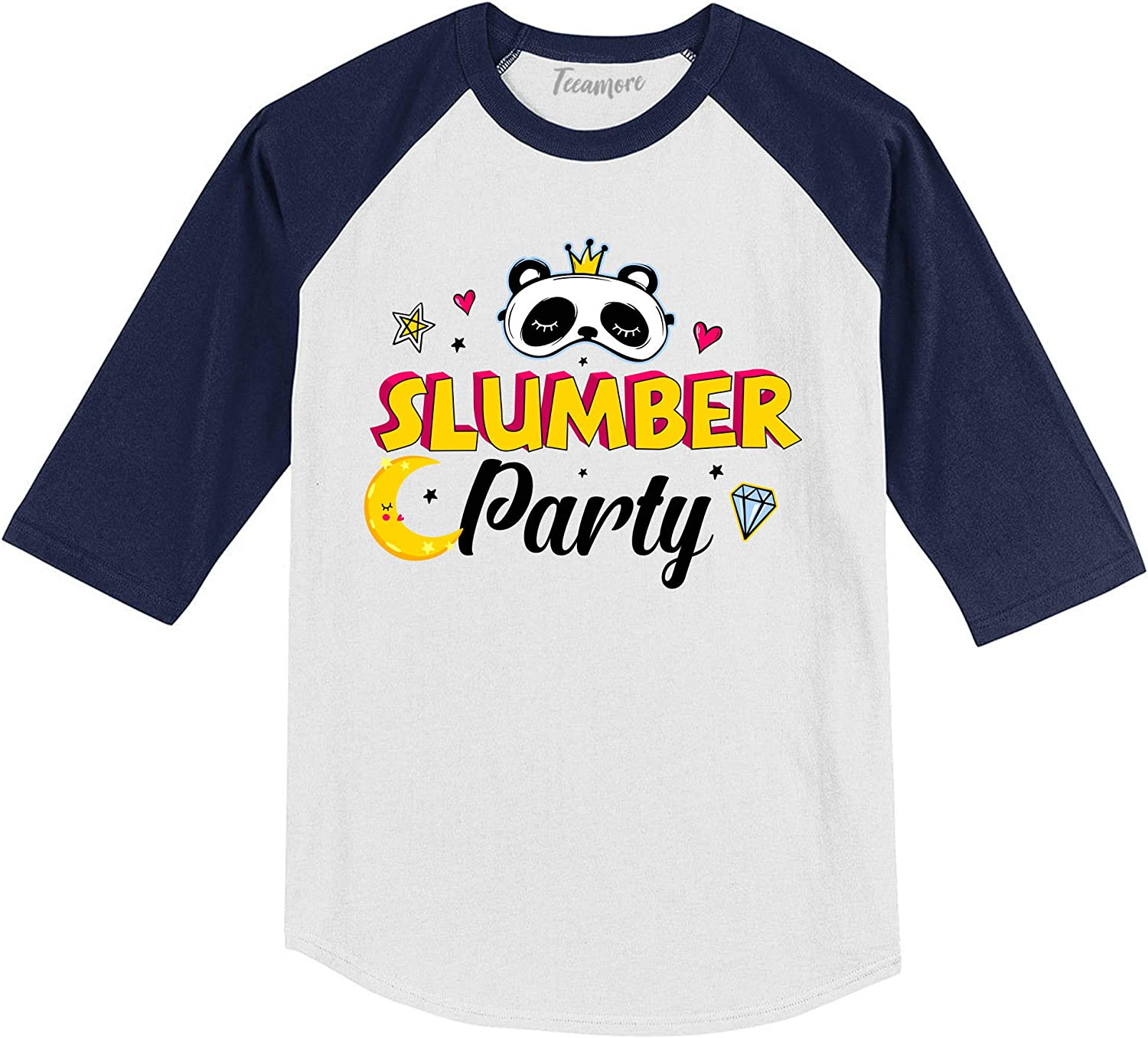 TEEAMORE Slumber Party Sleepover Squad Pajama Party Toddler Girls T-Shirt