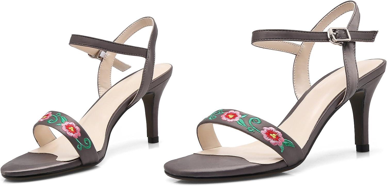 Leder - Sandalen, Neuen Sommer - Mode, Mode, Mode, Die Wind, High Heels,Grau,Eu35Cn36 B072X5V5KC  Elegant und feierlich 73c28d