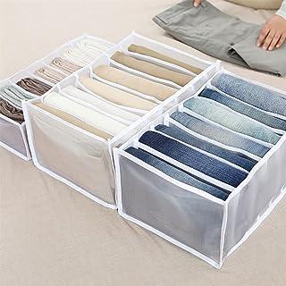 LPOQW Commode tiroir Organisateur boîte de Rangement avec Compartiments pour Jeans Placard tiroir à vêtements boîte de sép...