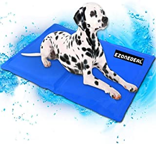 Large Dog Cooling Mat (Blue) | Keeps your larger pets cool & calm during summer | Non - toxic cooling pads for dogs and ca...