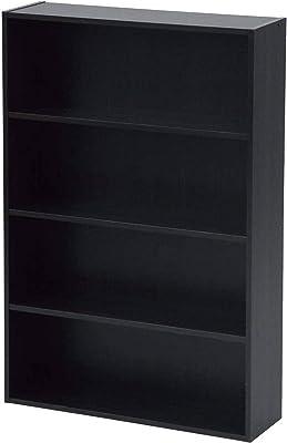 [山善] 本棚 コミック収納ラック 4段 幅60×奥行17×高さ89cm 耐荷重50kg ダークブラウン CMCR-9060(DBR)