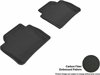3D MAXpider Front Row Custom Fit All-Weather Floor Mat for Select BMW 3 Series Sedan (F30) Models - Kagu Rubber (Black)