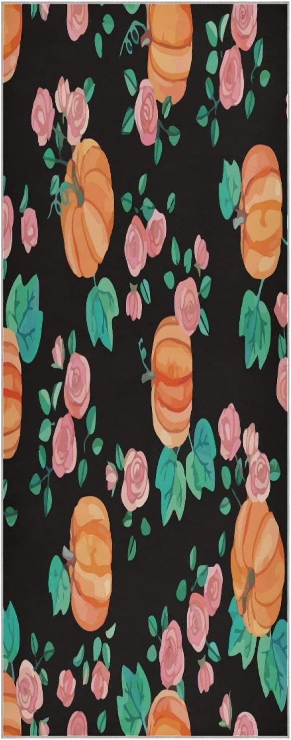 73 Inch Fort Worth Mall Yoga Mat Towel Vintage Art Ranking TOP11 Non Folda Slip Roses Pumpkins