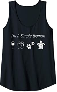 Womens i'm a simple woman sea turtle Tank Top