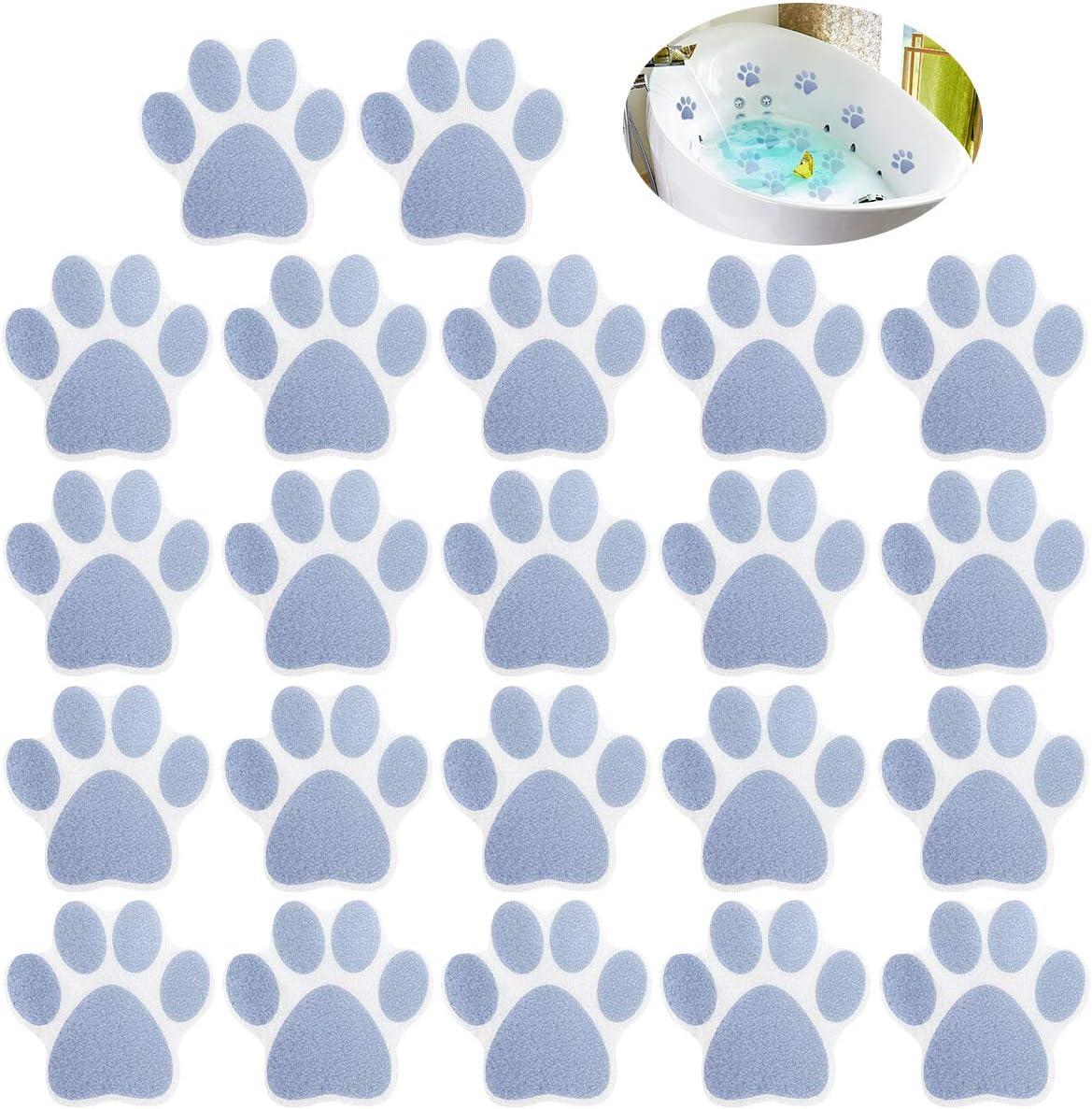 22 Pieces Non-slip Bathtub Stickers Bath Trea OFFicial site Adhesive Gifts Print Paw