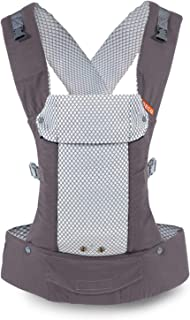 Beco Gemini Baby Carrier - Cool Mesh Grey, Sleek and Simple 5-in-1 All Position Backpack Style Sling for Holding Babies, Infants and Child from 7-35 lbs Certified Ergonomic