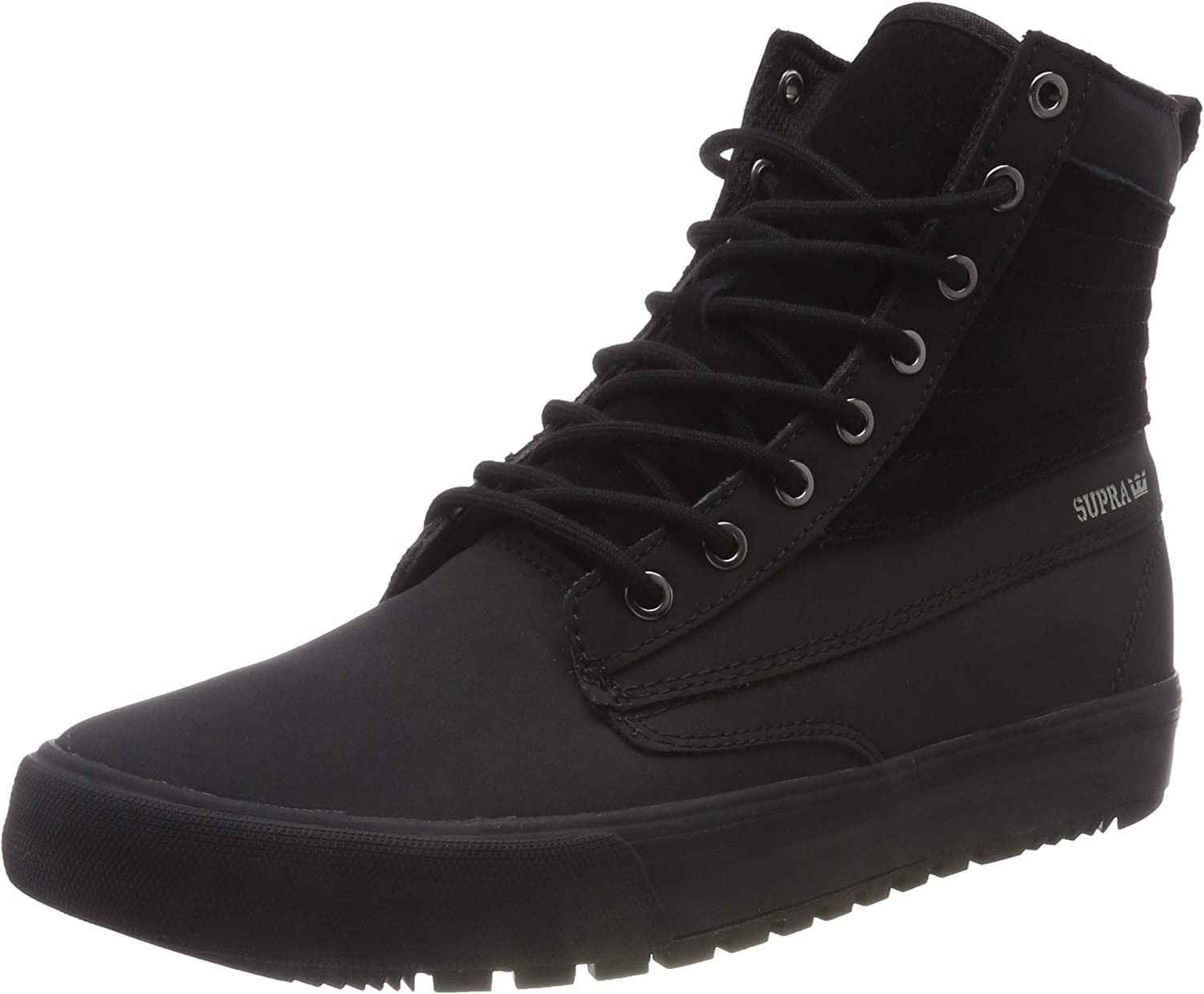 Supra  Graham CW shoes (Black Black) Men's High-Top Leather Winter Snow Boot