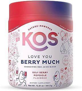 KOS Organic Reds Juice Powder, 45 Servings - Delicious Goji Berry Popsicle Flavor - Fruit & Vegetable Superfood Supplement...