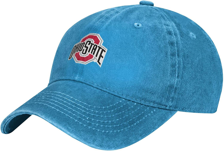 KJWEORD Men's Womans Ohio State University Sports Cowboy Hat Denim Hats