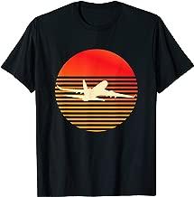 Vintage Retro Sunset Jet Airplane RC Pilot Flying Gift Shirt