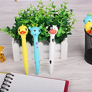 Eagle Ballpoint Pens, Cute Animal Design, with Sound and LED Lights, Set of 3, Cow, Duck, Sika Deer