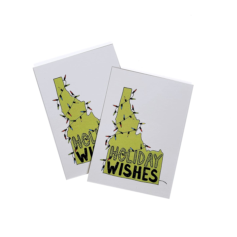 Idaho Lights Holiday tag 6 pack eco-fri tags letterpress gift price Regular store