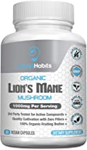 Organic Lion's Mane Mushroom – Handpicked, 3rd Party-Tested, Natural Brain, Nerve & Immune System Support. Pure Superfood Nootropic Supplement. Non-GMO, Gluten Free, Vegan,- 1000mg - 60 Capsules …