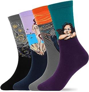 MUQU, Calcetines informales coloridos para hombre - Calcetines de algodón peinado divertidos y divertidos para vestir
