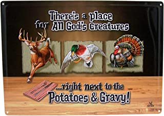There's a Place for All God's Creatures Decorative Tin Sign, 16 1/2 Inch