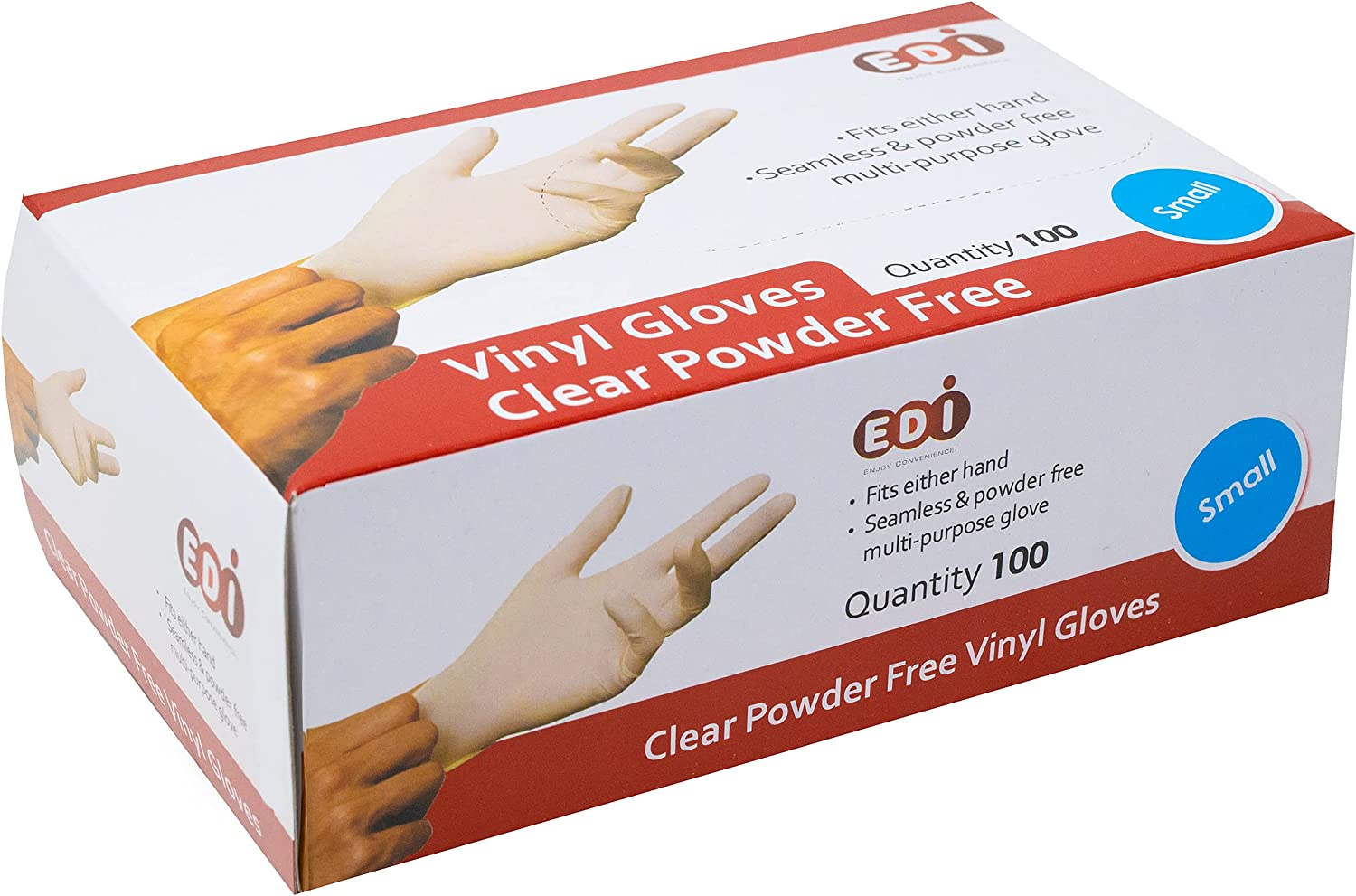 EDI Disposable Vinyl Gloves Courier shipping 2021 new free Clear Latex-Free - Powder-Free