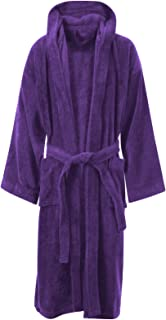 MyShoeStore Unisex 100% Luxury Egyptian Cotton Super Soft Velour Towelling Bath Robe Dressing Gowns Bathrobe Terry Towel H...