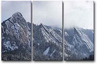 So Crazy Art 3 Pieces Wall Art Painting Flatirons Colorado Cloud Sky Snow Mountain Trees Pictures Prints On Canvas Landscape The Picture Decor Oil For Home Modern Decoration Print For Bedroom