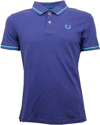 Alcott C7198 Polo Maglia hommes N 53 violet t-Shirt Hommes