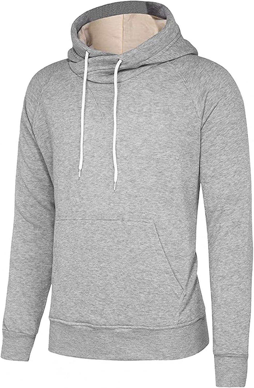 Aayomet Men's Sweatshirts Hoodies Solid Long Sleeve Crewneck Pullover Casual Workout Sport Tops Sweaters Blouses
