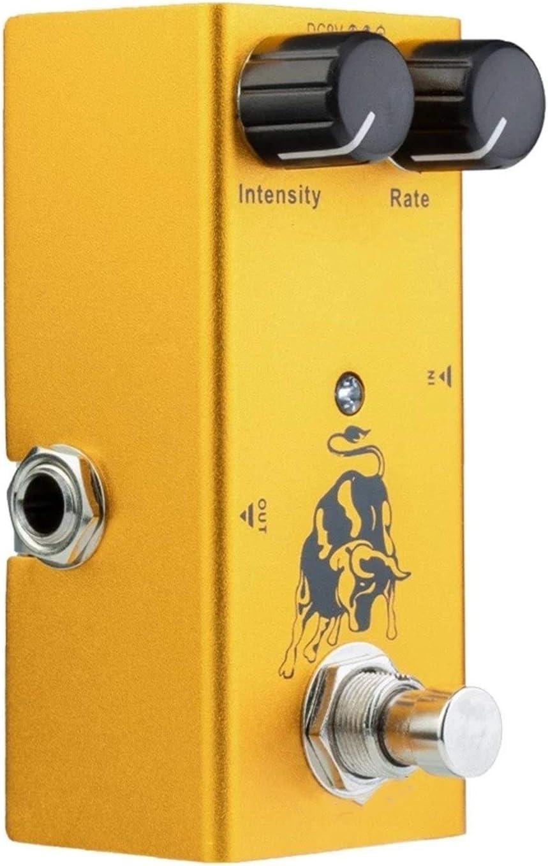 Pedal de Guitarra con perillas de Control de ABS Mini Pedal único para Guitarras eléctricas DC 9V Amarillo para Guitarra Eléctrica (Color : Yellow, Size : 9.2 x4.2X 5.2cm)