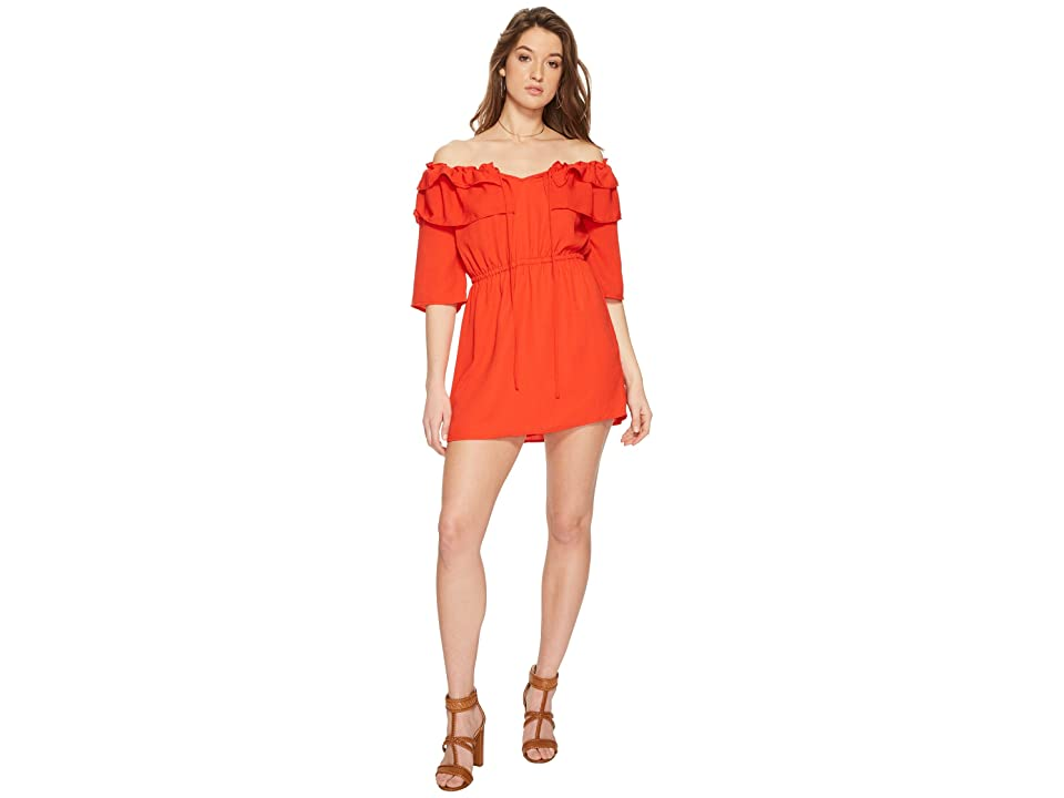 Jack by BB Dakota Bowser Off the Shoulder Dress (Poppy Red) Women