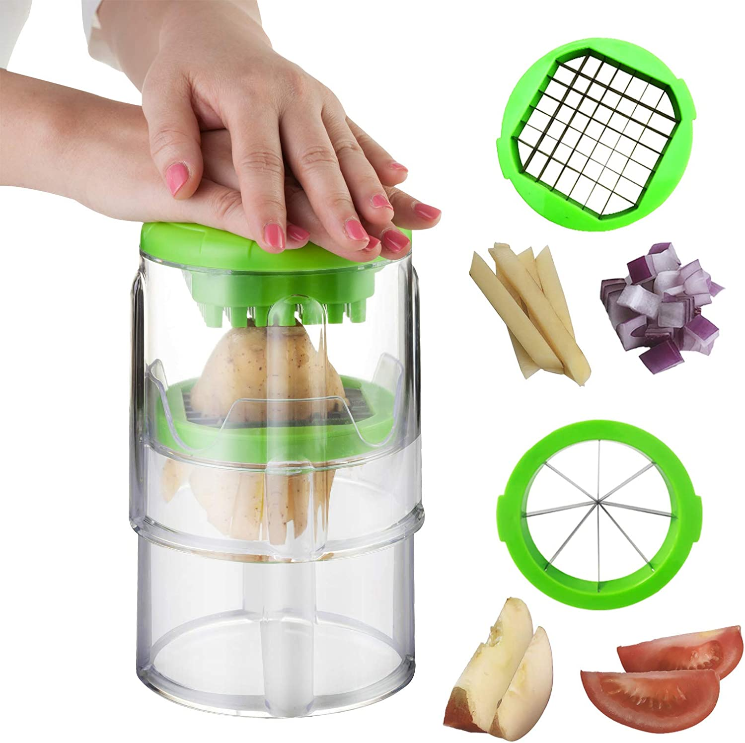 French Fry Cutter Potato Apple Oakland Mall Slicer Us Seattle Mall and Size 2 with Blades