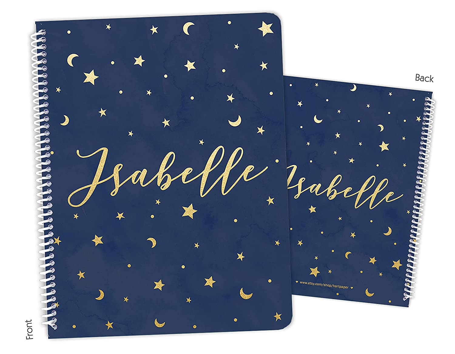 Personalized Stars Special price for a limited time Moons Space Animer and price revision Sky Sketchb Notebook Bound Spiral