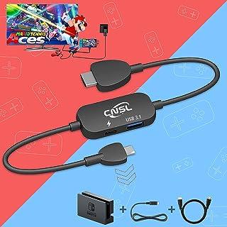Switchドック対応 Nintendo Switchドック小型 PSE認証済 多機能 軽量化HDMI変換Type-c USB3.1ポート Switch テレビ出力 スマホ接続 コンパクト 初心者向け旅行の必需品 CNSLミニドック