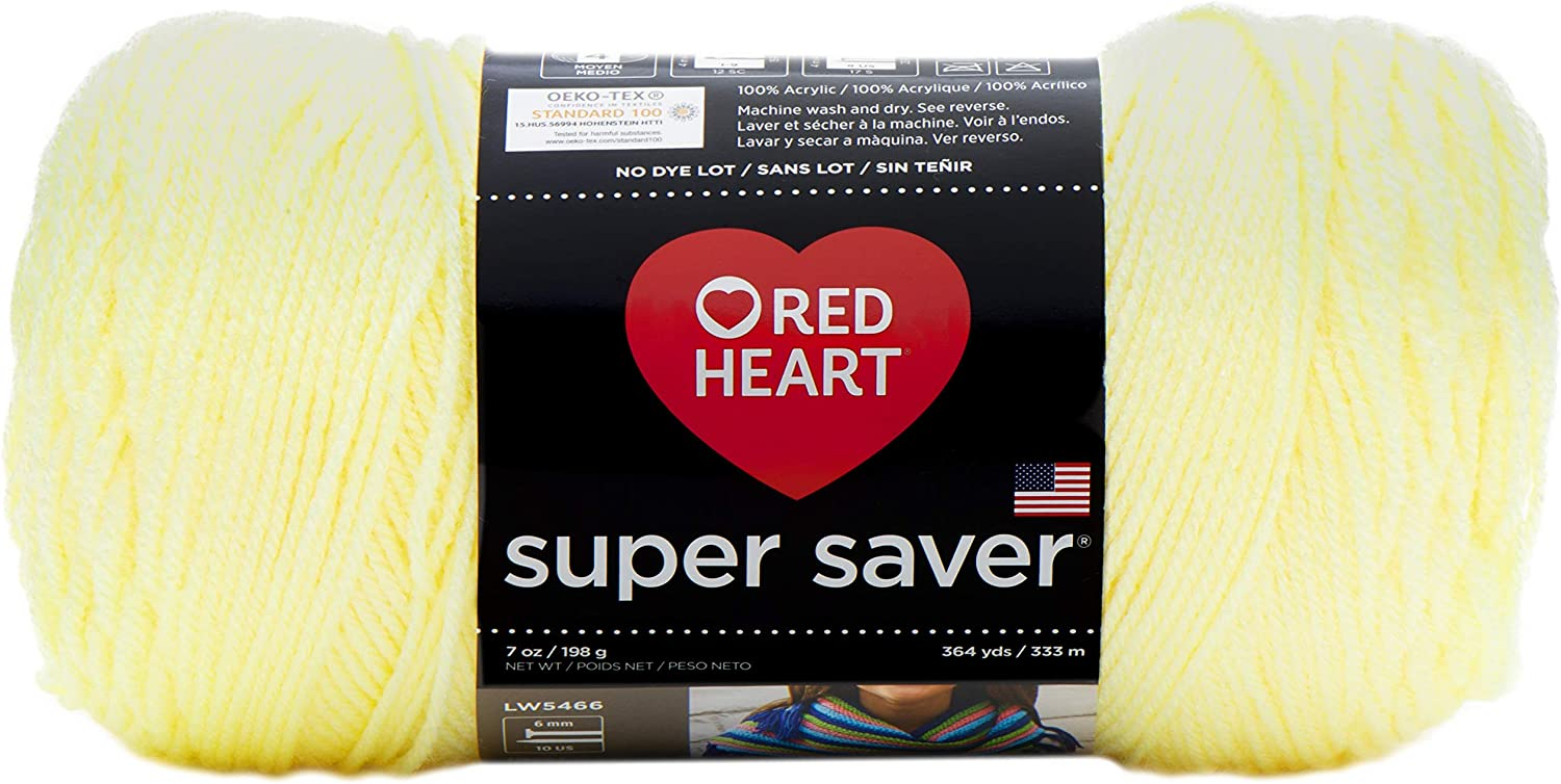 Red Heart Super Saver Max 42% OFF Yarn Max 82% OFF Pale Yellow 3-Pack E300-322