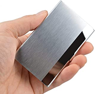 VIPITH Super Light Business Card Holder Professional Stainless Steel Business Name Card Case Keep Business Cards in Immacu...