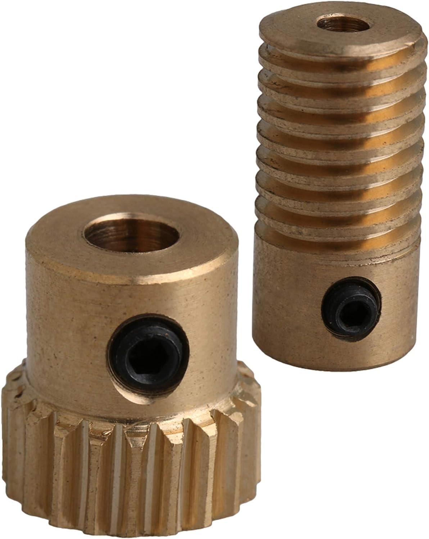 5mm Bore Hole 20 Teeth 20T Module 0.5 Motor Metal Gear Wheel with Top Screws