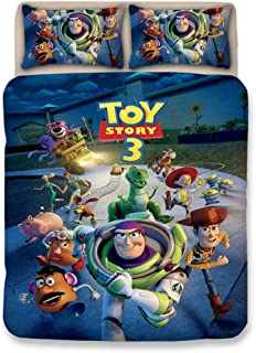 ZI TENG 3D New Toy Story Duvet Cover Set Children Cartoon Film Theme Bedding Set Kids Boys Girs and Teenagers Bed Set 3PC 1 Duvet Cover,2Pillowcases,Twin Full Queen King Size