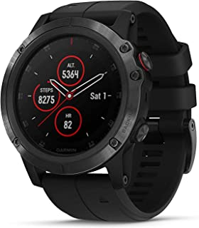 Garmin Fenix 5X Plus, Ultimate Multisport GPS Smartwatch, Features Pulse Ox, Heart Rate Monitoring, Music and Contactless ...