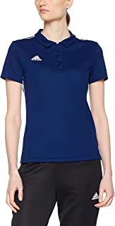 Adidas Australia Women's Core 18 Climalite Polo Shirt, Dark Blue/White, L