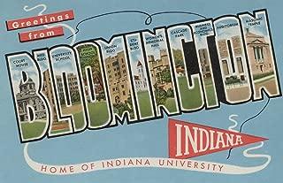 Bloomington, Indiana - Indiana University - Large Letter Scenes - Vintage Halftone 8726 (16x24 SIGNED Print Master Art Print - Wall Decor Poster)