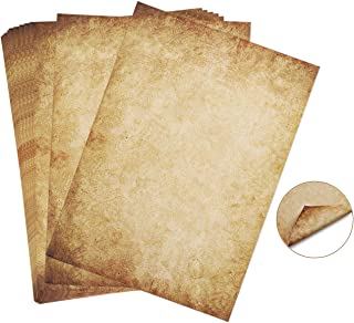 60 Feuilles papier à lettres vintage, papier vintage Papier à motif vieux papier DIN A4 100 g/m² imprimé Recto-Verso