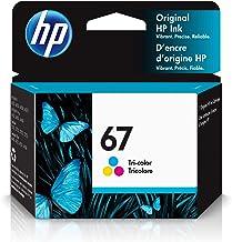 HP 67 | Ink Cartridge | Works with HP ENVY 6000 Series, HP ENVY Pro 6400 Series, HP DeskJet 1255,...