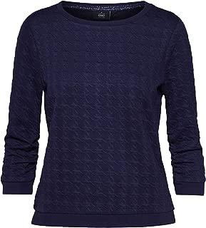 Only Womens Mynthe Joyce 3/4 Crew Sweatshirt in Night Sky.