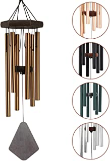 """ASTARIN Tuned Wind Chimes Outdoor, 28"""" Amazing Grace Wind Chimes 6 Aluminum Tubes, Memorial Wind Chimes Musical Melody Gar..."""
